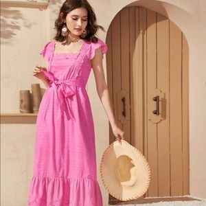 New pink eyelet ruffle like dress